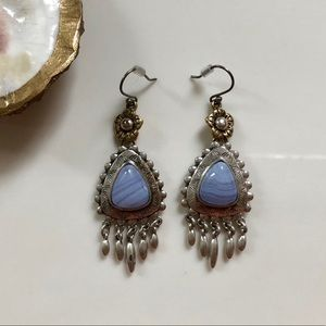 Lucky Brand Blue Stone Earrings